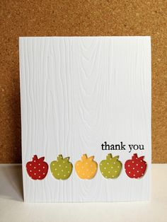 A quick post as I squeeze in a card for CAS•ology Week 60...Cue Card APPLE .     I just got the Apple Print set from Papertrey Ink...and a...