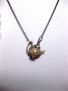 White+Satin+Pearl+Teapot+Necklace+Style+2+by+FashionCrashJewelry,+$23.00 adore!