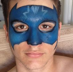 Pj masks inspired face paint by me funny bunny entertainment