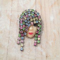 Glamorous Vintage Figural Flapper Lady Head by MaMereVintage
