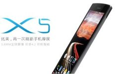 Umeox X5 has become the world's thinnest smartphone in the world.