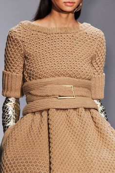 :this knit beauty is amazing...the problem is you have to be a size 0 to wear it without looking huge: