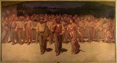 Il quarto stato è un dipinto a olio su tela del pittore italiano Giuseppe Pellizza da Volpedo, realizzato nel 1901 e conservato al Museo del Novecento di Milano  #PeluzzaDaVolpedo
