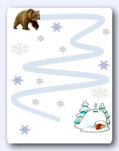 Прописи, дорожки, лабиринты на зимнюю тему. - Babyblog.ru