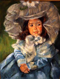 The Blue Girl (a copy). acrylics.
