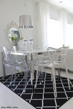 Black&white dining space - Home White Home -blog