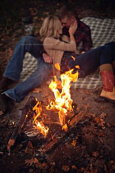 Solitude, night time, and a campfire .... the perfect atmosphere for conversation, a loving caress, and bonding.