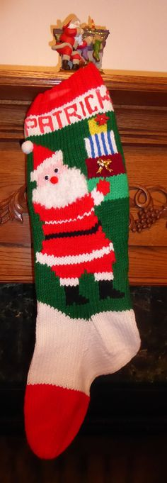 Knitted Christmas Stocking Pattern Frosty Knitted Christmas