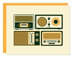 Retro Radio Notecards