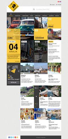 Gezimanya by BeyazPolycarp #webdesign #grid