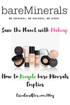@BareMinerals #GiveBackGetBack Empty Cosmetics Container Recycling Program Rewards You for Recycling All Brands #Makeup & Skin Care Empties Makeup Application, Skin Makeup, Makeup Brushes, Makeup Eyeshadow, Best Beauty Tips, Beauty Tricks, Daily Beauty, Top Beauty, Beauty Care