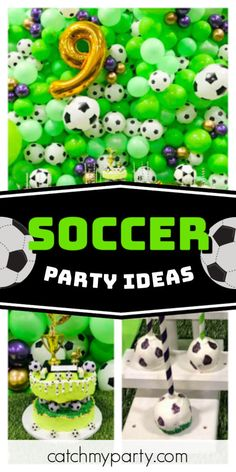 Lisseth G's Birthday / Soccer party - Jades Soccer party at Catch My Party Soccer Birthday Parties, Soccer Party, Birthday Party Themes, Birthday Cake, Mickey Mouse Parties, Mickey Mouse Birthday, Toy Story Birthday, Toy Story Party, Sofia Party