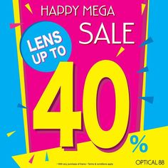 15 Jun-31 Aug 2016: Optical88 Mega Sale