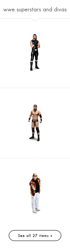"""wwe superstars and divas"" by angelclouds13 ❤ liked on Polyvore featuring wwe, people, superstars, seth rollins, curtis axel, wwe figures, big show, big e, adam rose and home"
