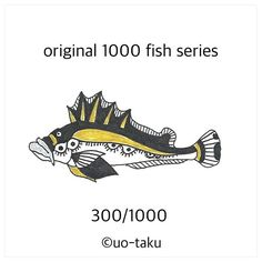 【uo_taku】さんのInstagramをピンしています。 《300/1000  以前に展示風景をご紹介しましたが、1,000枚の無地の名刺に1000種類の形も柄も違うオリジナルの魚を4色(黒、金、銀、紙の白)で描きました。 2015年11月6日より定期ですが、1日1匹を目安にご紹介していきます。どうぞお楽しみに。  i introduce the exhibition landscape previously.I drew a 1000 fish.Form also pattern and shape is  different all.all of design by original.so i used only 4colors(black.white.gold.silver) size is business card size(9cm×5cm) i will introduce one fish per day. please enjoy it. 2015.November6 start…