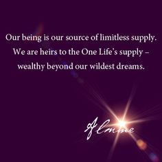 Limitless supply...
