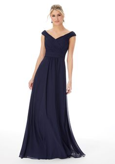 *Mori Lee, 13102, Size 22, Navy, $146. Available at Debra's Bridal Jacksonville, FL 32256 Contact us to make an Apt. (904) 519 9900 Mori Lee Bridesmaid Dresses, Designer Bridesmaid Dresses, Bridal Dresses, Flower Girl Dresses, Bridesmaids, Flower Girls, Dream Dress, Madeline Gardner, Chiffon