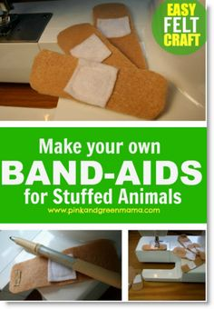 DIY Band-Aids for Dolls and Stuffed Animals {Pretend Play}