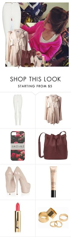 """""""Sans titre #534"""" by faanfic-1d ❤ liked on Polyvore featuring Topshop, Lanvin, Sophie Hulme, Casadei, Guerlain, Pieces and Victoria Beckham"""