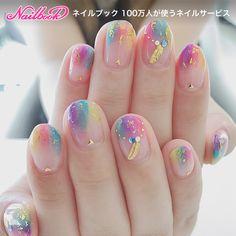 149 cute & stylish summer nails - page 28 > Homemytri. Kawaii Nail Art, Cute Nail Art, Cute Nails, Pretty Nails, Korean Nail Art, Korean Nails, Asian Nail Art, Minimalist Nails, Nail Swag