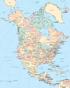 map of canada and north america - Google Search