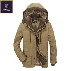 c807c1c48566c The new winter jacket Middle age Men Plus thjck warm coat jacket men s  casual hooded coat