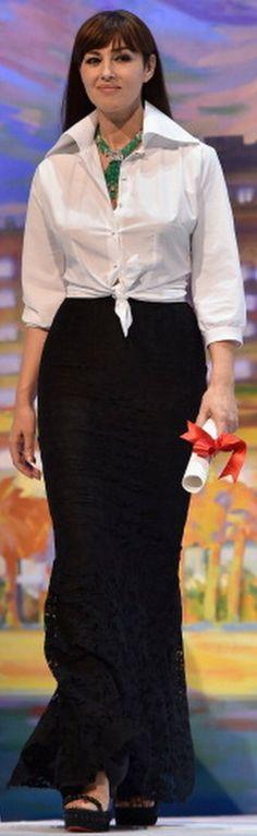 #cannes14 #cannesfilmfestival14 Monica Bellucci, Cannes Film Festival 2014, Magazine Mode, Crisp White Shirt, Italian Actress, Vogue, Dolce Gabbana, Culture, Perfect Woman