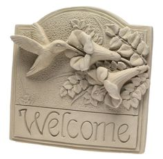 Carruth 137 Hummingbird Welcome Plaque *** Be sure to check out this awesome product.