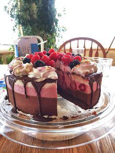 A berry & chocolate cake my lady made [1334 x 750] [OC]