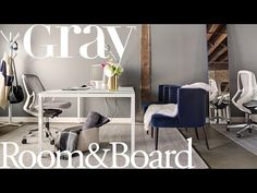 GRAY Magazine's Modern Glam Office - Room & Board
