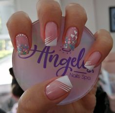 Fancy Nails, Trendy Nails, Love Nails, How To Do Nails, Polygel Nails, Nail Manicure, Glitter Nails, Clear Nails, Short Nails Art