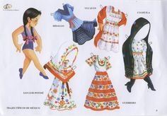 More Mexican paper dolls
