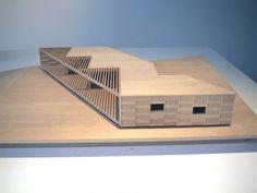 Balsa  maquette, architectural model, maqueta, modulo