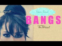 ▶ ★HAIR TUTORIAL: HOW TO FAKE BANGS WITH BUN / TOP KNOT HAIRSTYLES FOR MEDIUM LONG HAIR | CUTE UPDOS - YouTube