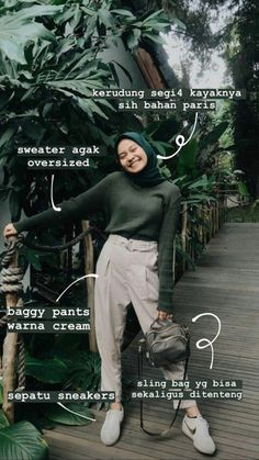 Simple Hijab, Casual Hijab Outfit, Ootd Hijab, Hijab Chic, Casual Outfits, Baggy Pants, Hijab Trends, Instagram Story Ideas, Aesthetic Girl
