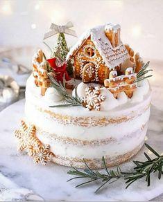 Christmas Cake Designs, Christmas Cake Decorations, Christmas Sweets, Holiday Cakes, Holiday Treats, Holiday Recipes, New Year Cake Decoration, Xmas Cakes, Christmas Cakes