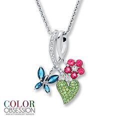 Flower Necklace SWAROVSKI ELEMENTS Sterling Silver