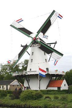 Flour mill De Widde Meuln, Ten Boer, the Netherlands