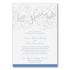 Blue and White Wedding Ideas - Love Rules - Invitation - White | Occasions In Print, LLC (Invitation Link - http://occasionsinprint.carlsoncraft.com/Wedding/Wedding-Invitations/3283-LL35996WH-Love-Rules--Invitation--White.pro)