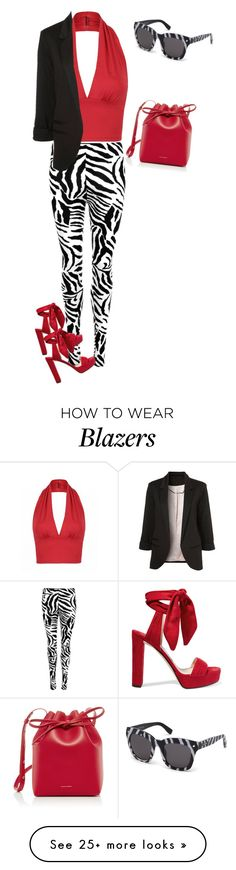 """Untitled #1726"" by sylviabunny on Polyvore featuring WearAll, Jimmy Choo, Dsquared2 and Mansur Gavriel"