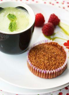 Summer Snack: Fresh Melon Soup with Financier Cakes (Gluten Free)