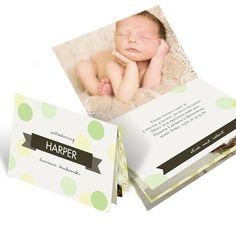 Chevron Booklet -- Baby Announcements