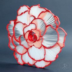 "BEGONIA, 3/8"" quilling paper, unmounted. JUDiTH+ROLFE"