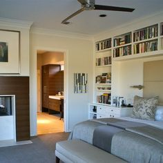 Book Case With Bed Design, Pictures, Remodel, Decor and Ideas