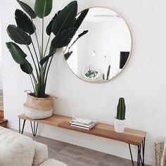 Scandinavian living room #InteriorDesignPlants