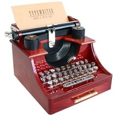Amazon.com: Alytimes Vintage Typewriter Music Box for... (£11) ❤ liked on Polyvore featuring home, home decor, vintage home accessories, vintage home decor and vintage music box