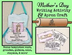 Mother's Day Craft and Writing Activity: Recipe Theme