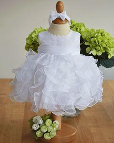 Sevva Elli Girls Waterfall Christening Dress