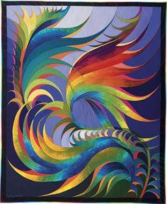 jg-inspire:  Feather Study#30byCaryl Bryer Fallert