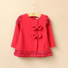 2y,3y,4y,5y toddler girl jacket baby clothes pink red coat - fleece inside